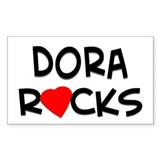 Dora Rocks Rectangle Decal