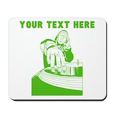 Custom Green DJ Mousepad