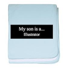 Son - Illustrator baby blanket