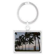 honolulu palms Landscape Keychain