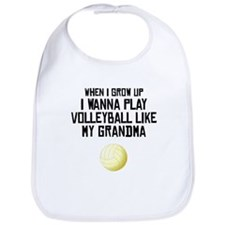 Volleyball Like My Grandma Bib