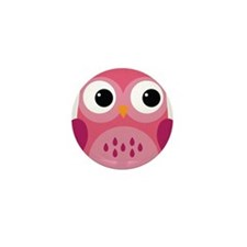 Pink Owl-3 Mini Button (100 pack)