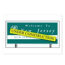 Construction NJ Funny Postcards (Package of 8)