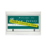 Construction NJ Funny Rectangle Magnet