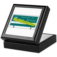 Construction NJ Funny Keepsake Box