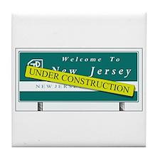 Construction NJ Funny Tile Coaster
