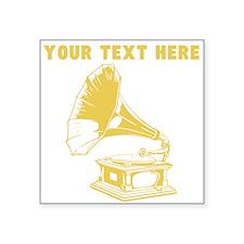 Custom Gold Gramophone Record Player Sticker