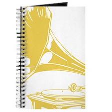 Custom Gold Gramophone Record Player Journal
