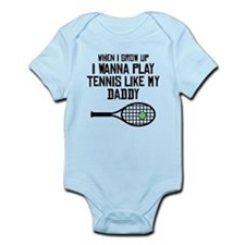 Play Tennis Like My Daddy Body Suit