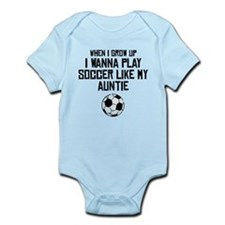Play Soccer Like My Auntie Body Suit