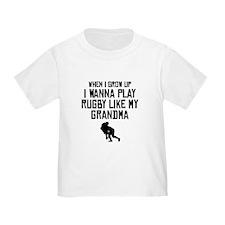 Play Rugby Like My Grandma T-Shirt