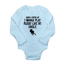 Play Rugby Like My Uncle Body Suit