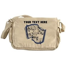Custom Music Sheet Messenger Bag