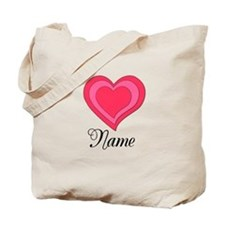 Name and Hearts Tote Bag