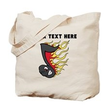 Custom Flaming Music Note Tote Bag