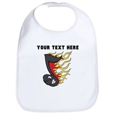 Custom Flaming Music Note Bib