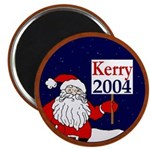Santa Supports John Kerry Magnet (10 pk)