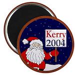 Santa Supports John Kerry Magnet (10 pk)