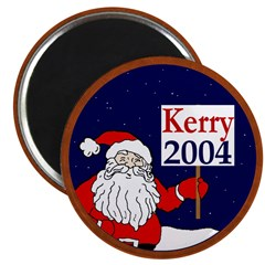Santa Supports John Kerry Magnet