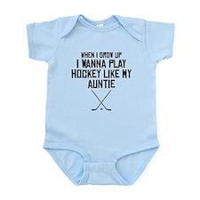 Play Hockey Like My Auntie Body Suit