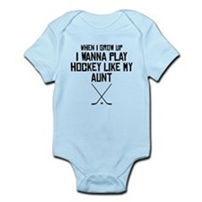Play Hockey Like My Aunt Body Suit