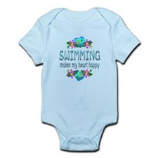 Swimming Heart Happy Infant Bodysuit
