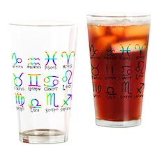Twelve Zodiac signs Drinking Glass