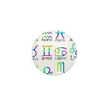 Twelve Zodiac signs Mini Button