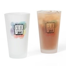 Color Outside the box Drinking Glass