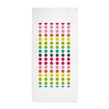 Colorful Dots Pattern 3 Beach Towel