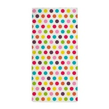 Colorful Polka Dots Pattern Beach Towel