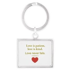 Love is Patient, Love is Kind Keychains