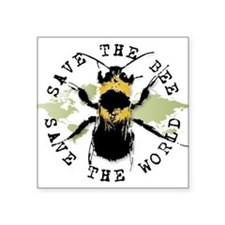 "Unique Bees Square Sticker 3"" x 3"""