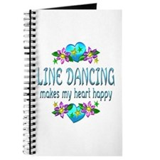 Line Dancing Heart Happy Journal