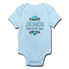 Line Dancing Heart Happy Infant Bodysuit