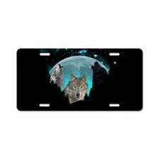 Wolves Twilight Harvest Moon Aluminum License Plat