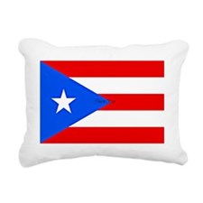 Flag of Puerto Rico, Lab Rectangular Canvas Pillow