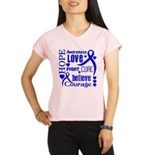 Colon Cancer Hope Words Performance Dry T-Shirt