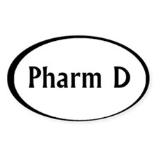 pharm d oval sticker Decal