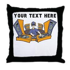 Custom Cartoon DJ Throw Pillow