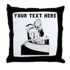 Custom DJ Throw Pillow