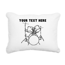 Custom Drum Set Rectangular Canvas Pillow