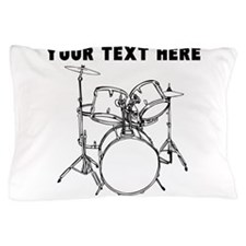 Custom Drum Set Pillow Case