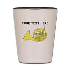 Custom French Horn Shot Glass