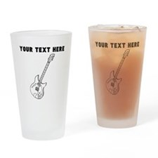 Custom Electric Guitar Drinking Glass