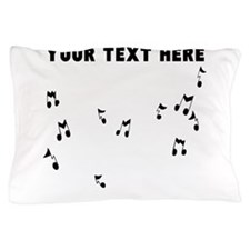 Custom Music Notes Pillow Case