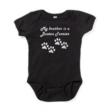 My Brother Is A Boston Terrier Baby Bodysuit