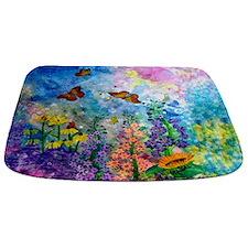 Butterfly Garden Landscape Bathmat