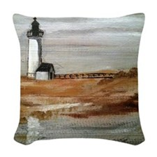 Annisquam Lighthouse Woven Throw Pillow
