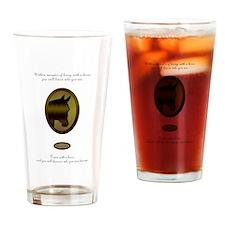 Horse Theme Design by Chevalinite Drinking Glass